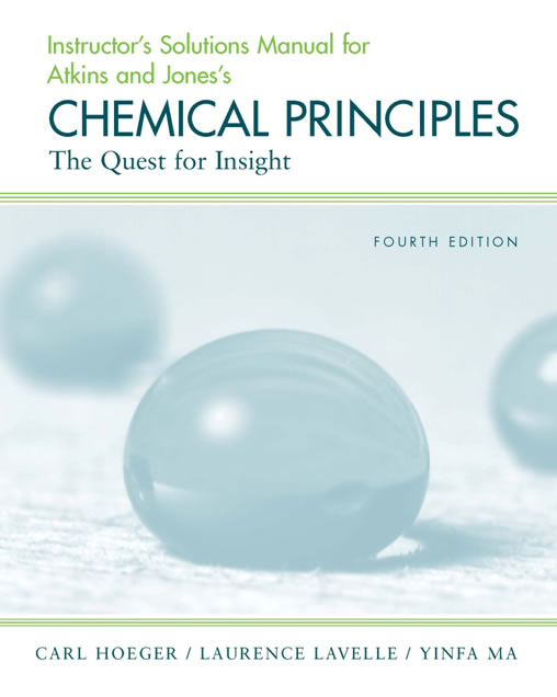 Chemical Principles Instructor Solutions 4th