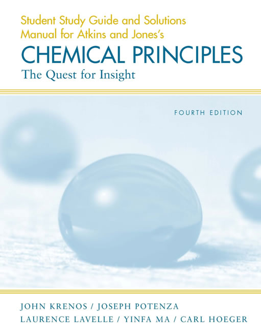 Chemical Principles Student Solutions 4th